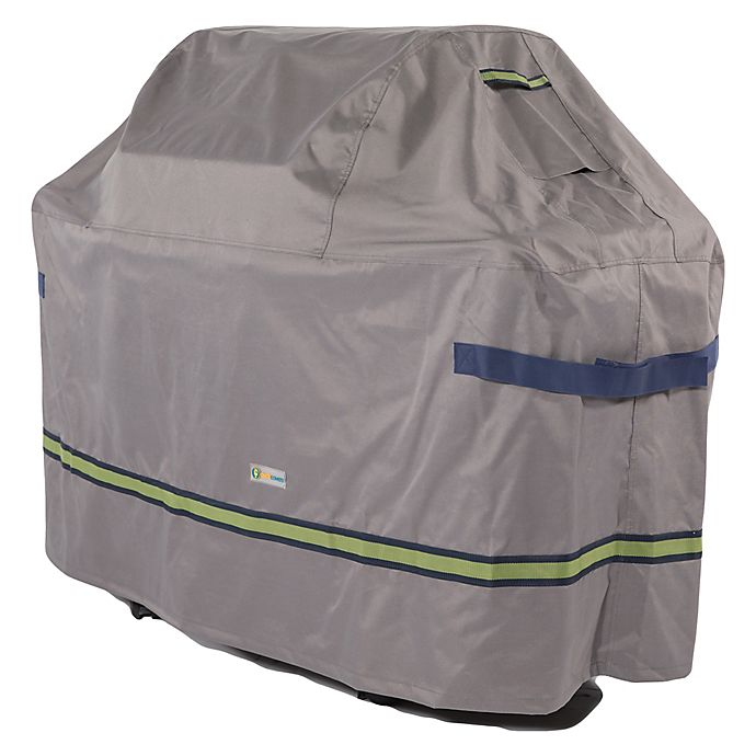 Alternate image 1 for Soteria Polyester Water-Resistant Grill Cover in Grey