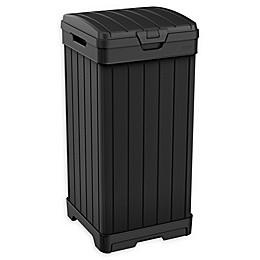 Keter Baltimore Resin Outdoor 39-Gallon Waste Bin in Black