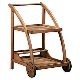 Linon Home Catalan Trolley in Teak