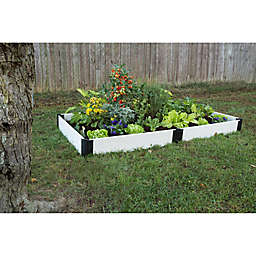 Frame It All 4-Foot x 8-Foot Raised Garden Bed in White
