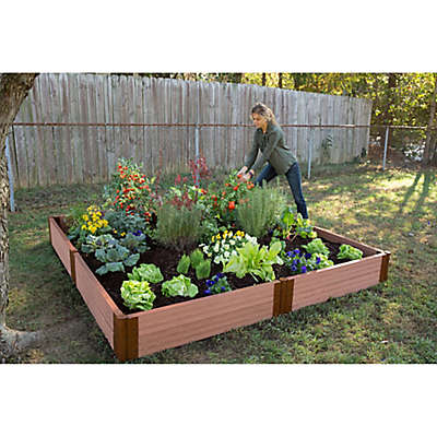 Frame It All 8-Foot x 8-Foot Raised Garden Bed in Sienna