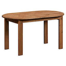 Linon Home Blaise Adirondack Outdoor Coffee Table in Teak