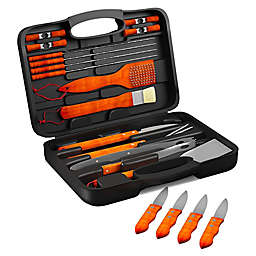 Home-Complete 22-Piece BBQ Grill Tool Set