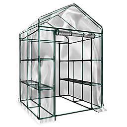 Pure Garden 4-Foot 7-Inch x 6-Foot x 4-Inch 12-Tier Walk-In Greenhouse