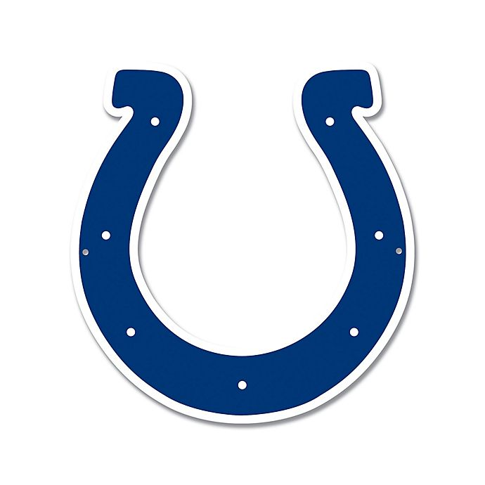 Alternate image 1 for NFL Indianapolis Colts 11-Inch x 11-Inch Laser Cut Street Sign