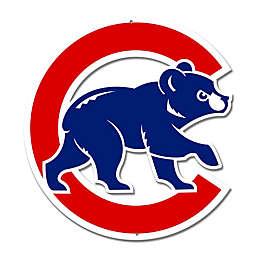 MLB Chicago Cubs Walking Bear Logo 12-Inch x 12-Inch Laser Cut Street Sign