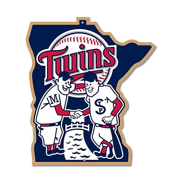 Alternate image 1 for MLB Minnesota Twins 10-Inch x 11-Inch Laser Cut Street Sign