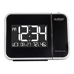 La Crosse Technology Projection Alarm Clock in Black