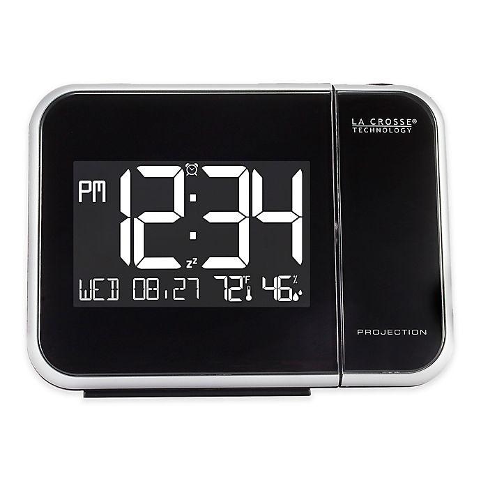 Alternate image 1 for La Crosse Technology Projection Alarm Clock in Black