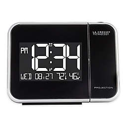 La Crosse Technology Projection Alarm Clock in Black