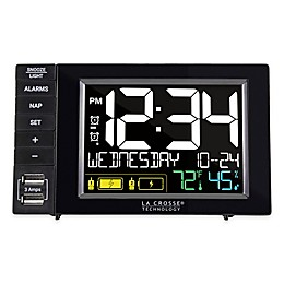 La Crosse Technology Duel USB Alarm Clock Charging Station in Black