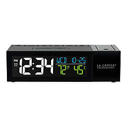 La Crosse Technology Pop-Up Projection Alarm Clock in Black