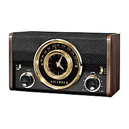 Victrola™ Mid-Century Modern Bluetooth Clock Speaker in Espresso