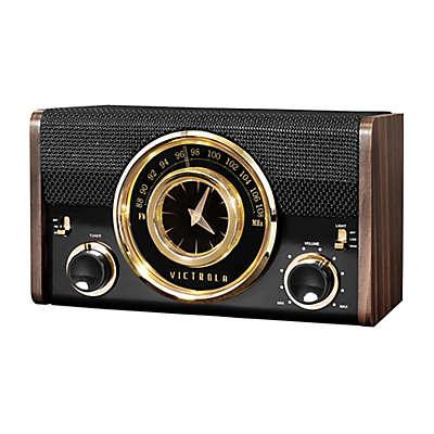 Victrola™ Mid-Century Modern Bluetooth Clock Speaker in Espresso