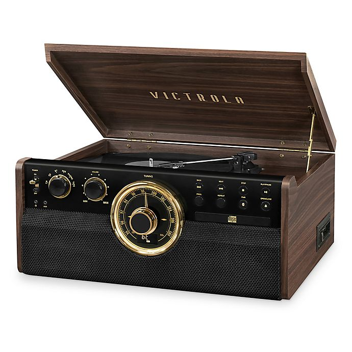 Alternate image 1 for Victrola™ Empire 6-in-1 Bluetooth Record Player with 3-Speed Turntable in Espresso
