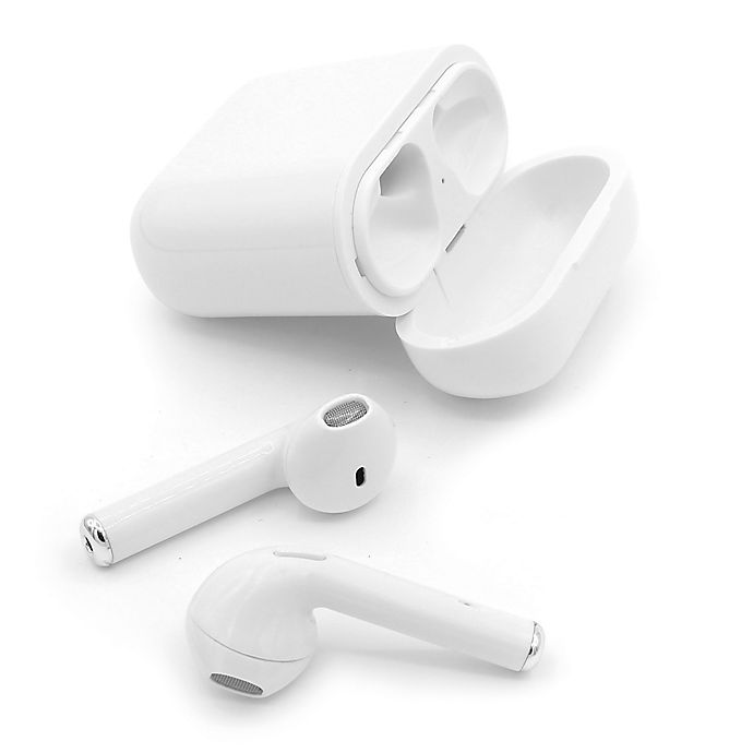 Sharper Image True Wireless Ear Buds In White Bed Bath Beyond