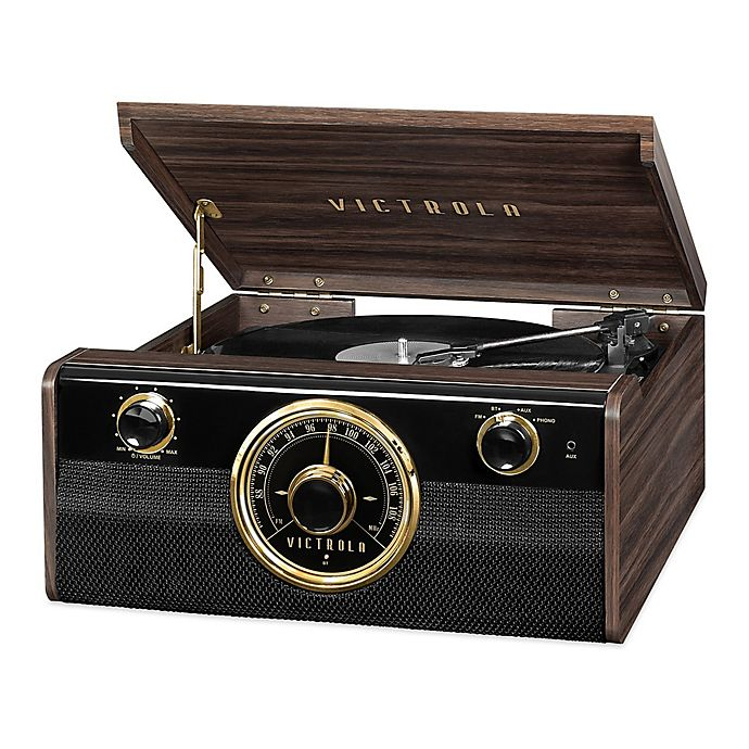 Alternate image 1 for Victrola Mid-Century 3-in-1 Bluetooth® Record Player in Espresso