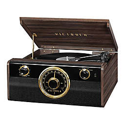 Victrola Mid Century 4 in 1 Bluetooth  Record Player in Espresso