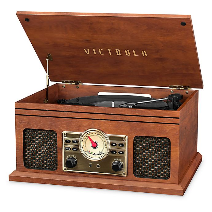 Alternate image 1 for Victrola™ Nostalgic 4-in-1 Bluetooth Record Player with 3-Speed Turntable in Mahogany