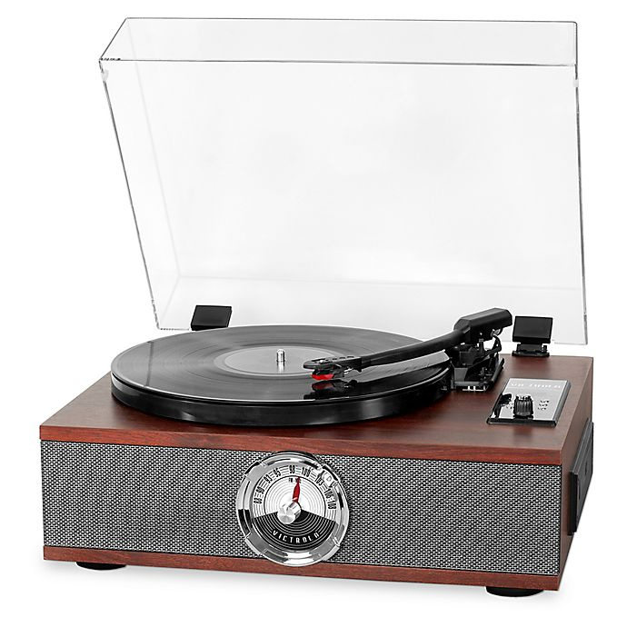Alternate image 1 for Victrola™ Wood 5-in-1 Bluetooth® Record Player in Espresso