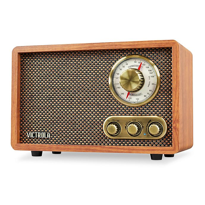 Alternate image 1 for Victrola™ Wood Bluetooth FM/AM Radio