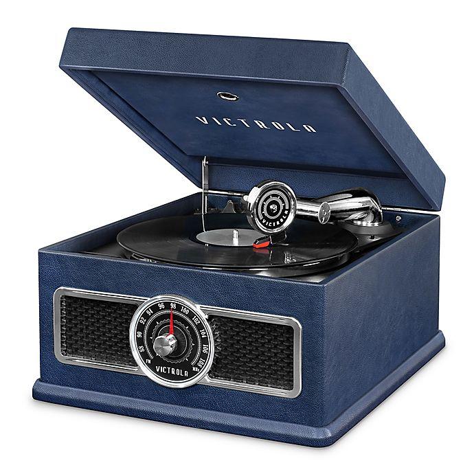 Alternate image 1 for Victrola™ Nostalgic 5-in-1 Vinyl Record Player in Blue