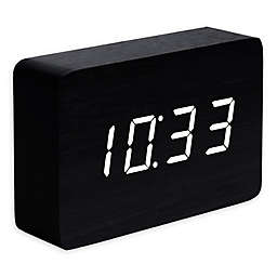 Gingko® Brick Click Alarm Clock in Black/White