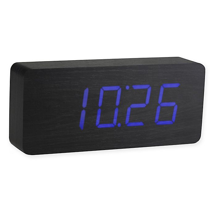 Alternate image 1 for Gingko Slab Click Rechargeable Clock