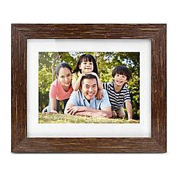 Aluratek Distressed Wood Digital Photo Frame in Brown