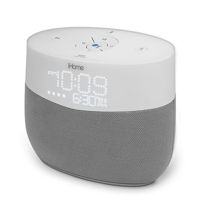 Alternate image 1 for iHome Google Assistant Voice Activated Speaker in White