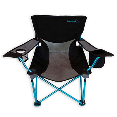 TravelChair® Company French-Cut Aluminum Folding Beach Chair in Blue