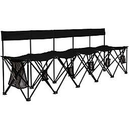 TravelChair® Company El Grande 5-Seat Folding Travel Bench in Black