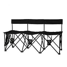 TravelChair® Company El Grande 3-Seat Travel Bench in Black