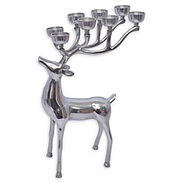 24-Inch Reindeer Tealight Candle Holder in Silver