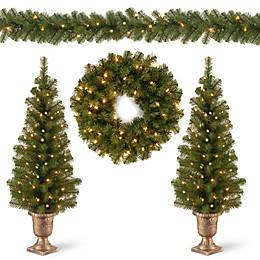 National Tree Company 4-Piece Pre-Lit Christmas Assortment