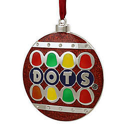 3.5-Inch Silver Plated Dots Candy Logo Christmas Ornament