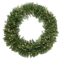 Northlight® 48-Inch Northern Pine Pre-Lit Wreath with Clear Lights
