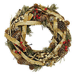 Northlight® 13.5-Inch Country Rustic Pinecones and Berries Wreath