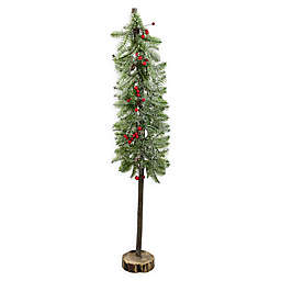 Northlight 34-Inch Rustic Alpine Tree Tabletop Decoration in Green
