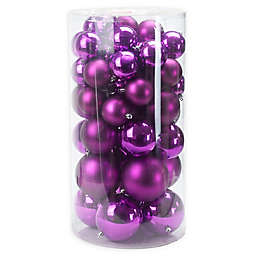Northlight® 50-Piece Shiny and Matte Ball Ornaments Set in Pink