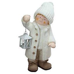 17.25-Inch Winter Boy Figurine