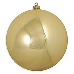 10-Inch Plastic Ornament Ball in Gold