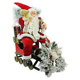 26-Inch Santa Claus on Train Car Figure