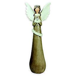 24-Inch Angel Figurine in Brown