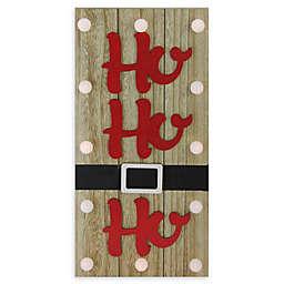 """""""Ho Ho Ho"""" Battery-Operated Holiday Wall Decor"""