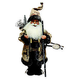 16.5-Inch Rustic Country Santa Claus Figurine