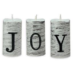 JOY LED Christmas Candles (Set of 3)