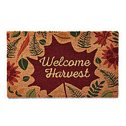 "Welcome Harvest Giant Leaf 18"" x 30"" Doormat in Multicolor"