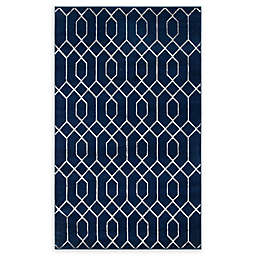 Marilyn Monroe® Trellis Glam Rug in Navy Blue