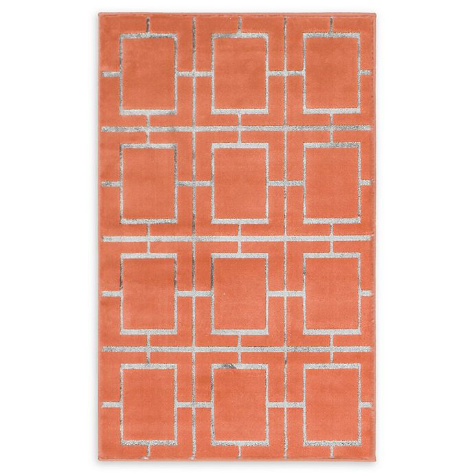 Alternate image 1 for Marilyn Monroe® Deco Glam Coral/silver 2' X 3' Powerloomed Area Rug in Coral/silver
